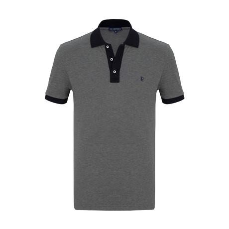 Felix Short Sleeve Polo Shirt // Anthracite (S)