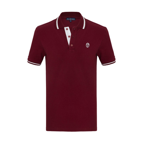 Becker Short Sleeve Polo Shirt // Bordeaux (S)