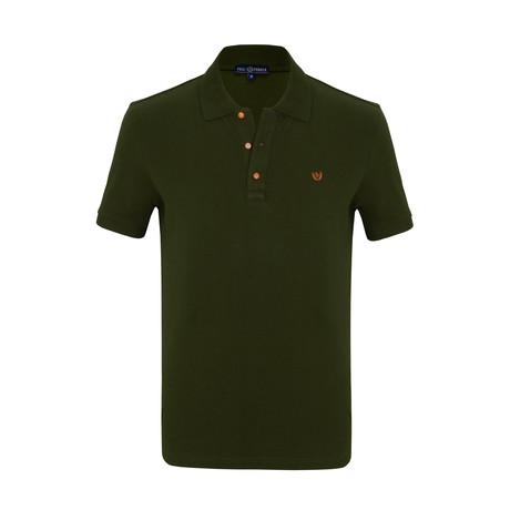Jespar Short Sleeve Polo Shirt // Khaki (S)