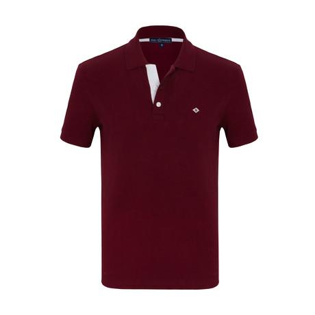 Mathias Short Sleeve Polo Shirt // Bordeaux (S)