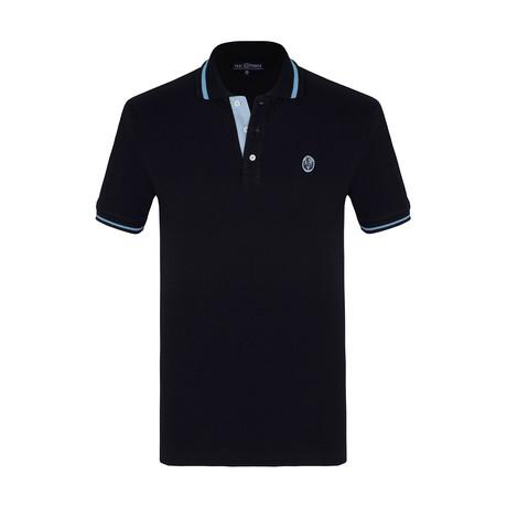 Lampard Short Sleeve Polo Shirt // Navy (S)