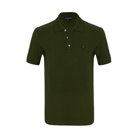 Niklaus Short Sleeve Polo Shirt // Khaki (S)