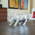 Bull Sculpture // Chrome