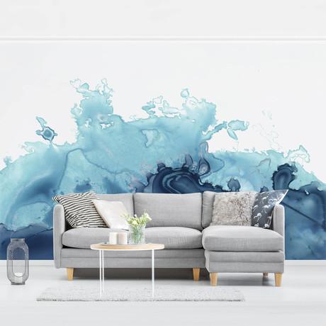 Watercolor Blue Wave