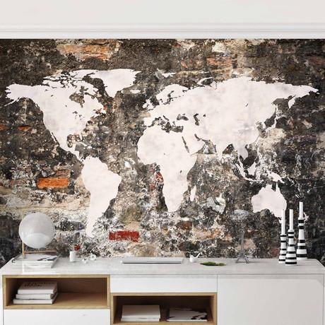 Old Wall Worldmap