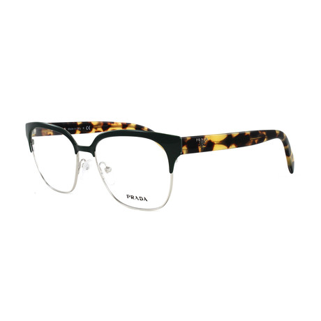 Women's PR54SV Optical Frames // Green + Silver
