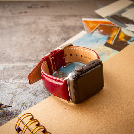 Passion Series Italian Vegetable-Tanned Leather  //  Apple Watch 40/44 (Noce)