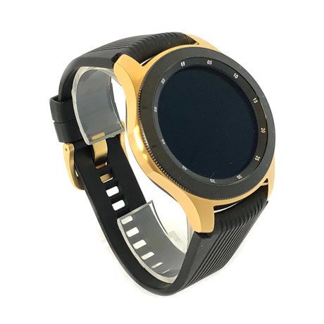 24K Gold 46mm Galaxy Smart Watch // Silicone Band // 46mm