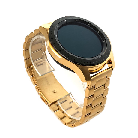 24K Gold 46mm Galaxy Smart Watch // Gold Links Band // 46mm