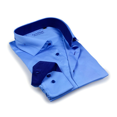 Solid Dress Shirt I // Blue (S)