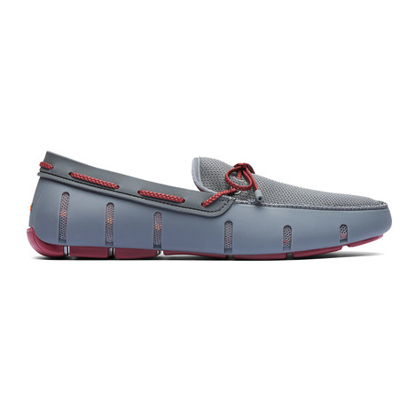 Braided Lace Loafer // Gray (US: 7)