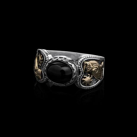 Runestone x Onyx Ring (Size 6)