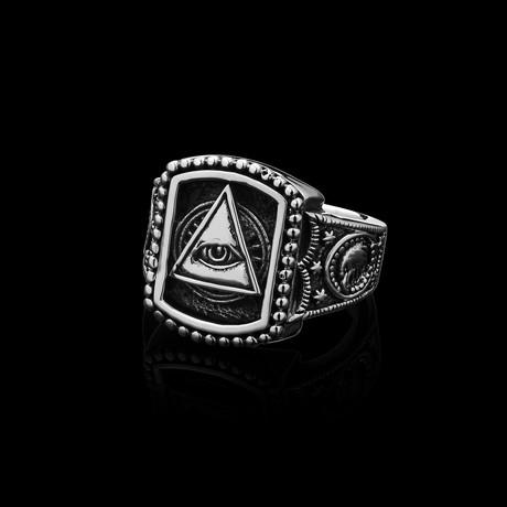 Illuminati Ring // Stainless Steel (Size 7)