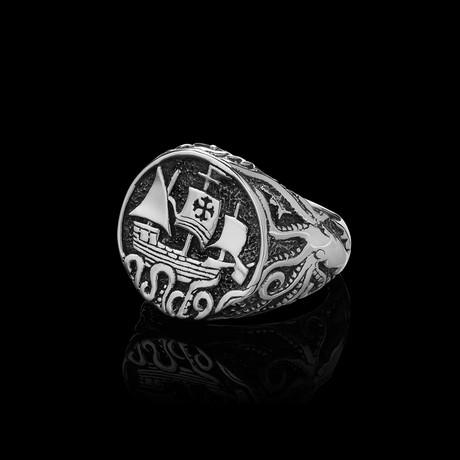Kraken Ring // Silver (Size 6)