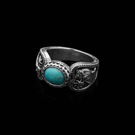 Runestone x Turquoise Ring (Size 6)