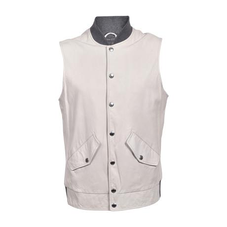 Two Tone Suede Vest // Cream (XS)