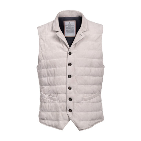 Suede Vest // Ivory (XS)