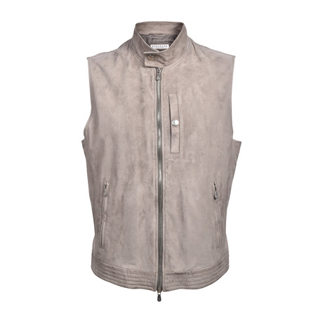 Suede Vest // Taupe (XS)