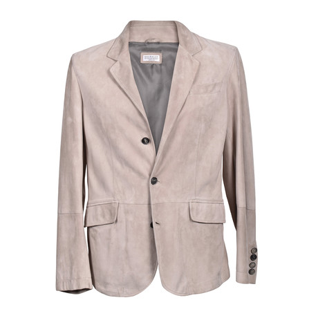 Suede 3 Button Overcoat // Tapue (XS)