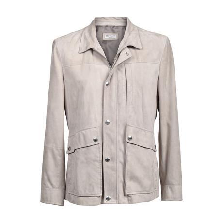 Suede Overcoat // Cream (XS)