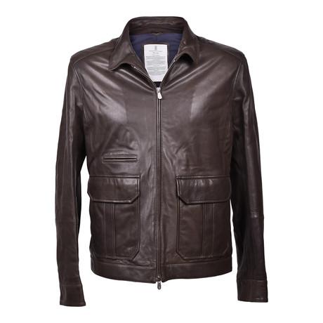 Leather Biker Jacket // Black (XS)