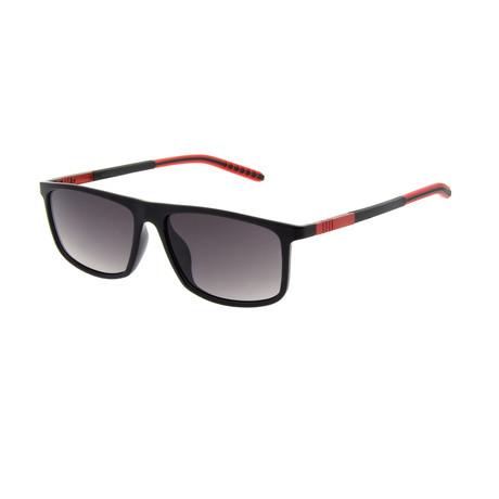 Men's SP3401 Sunglasses // Black + Red
