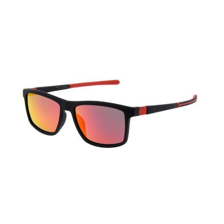 Men's SP3012 Polarized Sunglasses // Black + Red
