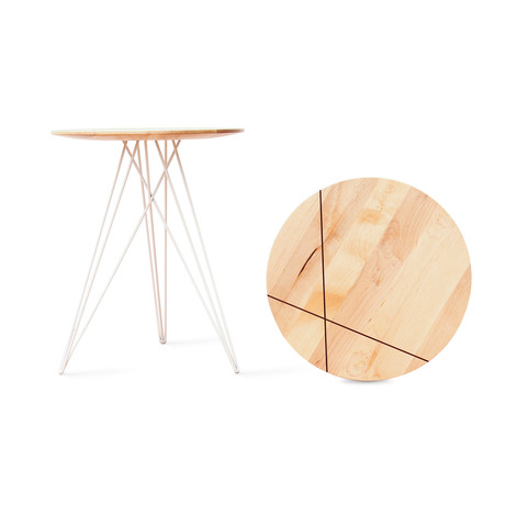 Hudson Side Table // Maple // With Inlay (Black)