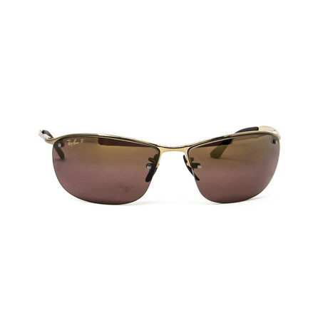 Polarized Square Sunglasses // Bronze + Chromance