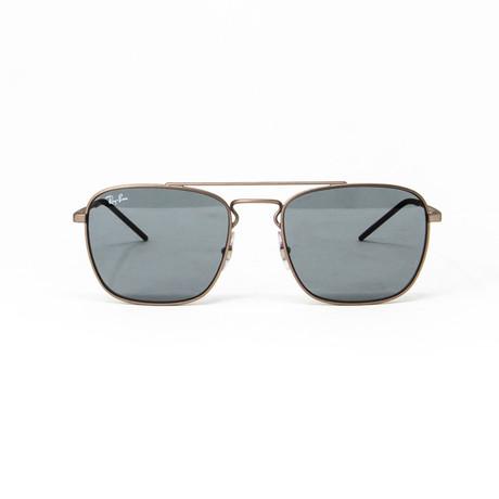 Ray Ban // Men's Modified Aviator Sunglasses // Gold + Dark Gray