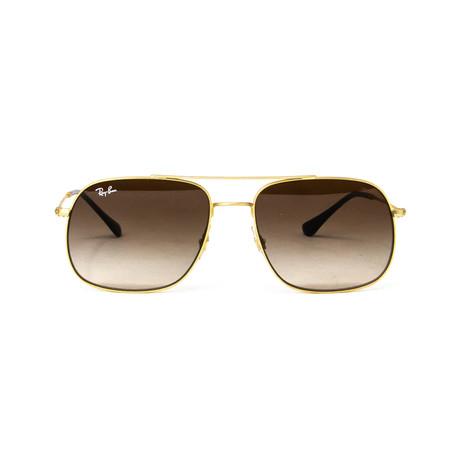 Aviator Sunglasses // Gold + Black
