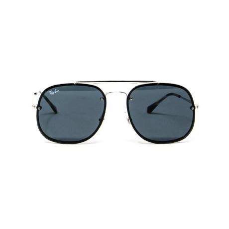Modified Aviator Sunglasses // Navy + Gray