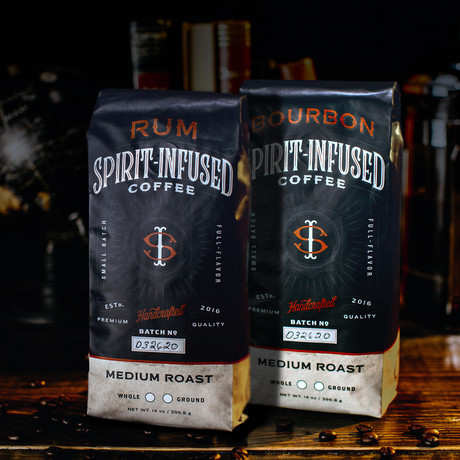 Infused Coffee Bundle of 2 // Bourbon + Rum (Ground)
