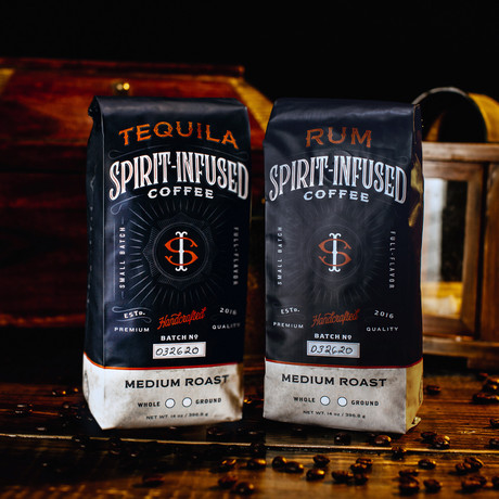Infused Coffee Bundle of 2 // Rum + Tequila (Ground)