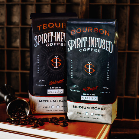 Infused Coffee Bundle of 2 // Bourbon + Tequila (Ground)
