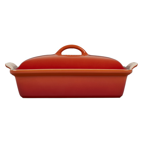 Heritage Covered Rectangular Casserole Dish // 4 qt. (Cerise)