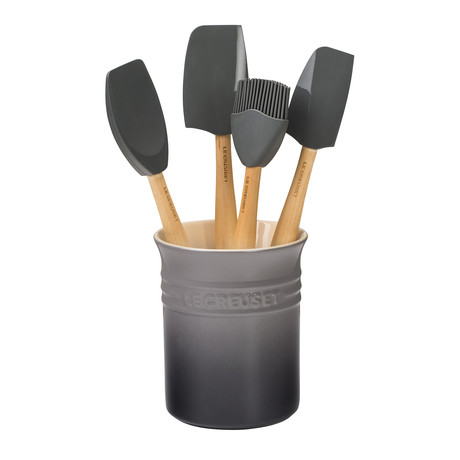 Craft Series 5-Piece Utensil Set + Crock (Licorice)