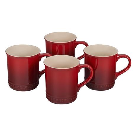 Mugs // Set of 4 (Cerise)
