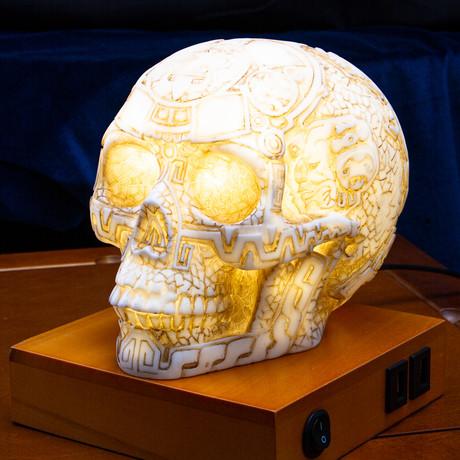 Aztec Skull Lamp