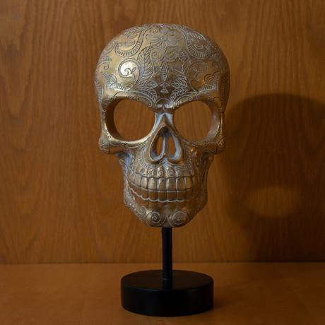 Gold Skull + Base