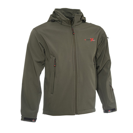 Multi Functional Softshell Jacket // Olive (S)