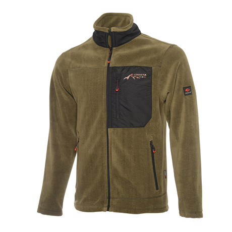 Full Zip Fleece Jacket // Olive (S)