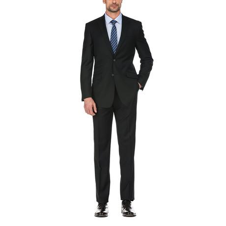 2-Piece Solid Slim Fit Suit // Black (36S)