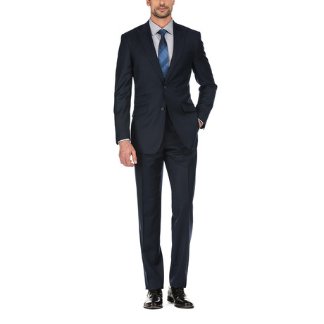 Solid Slim Fit Suit // Dark Navy (36S)