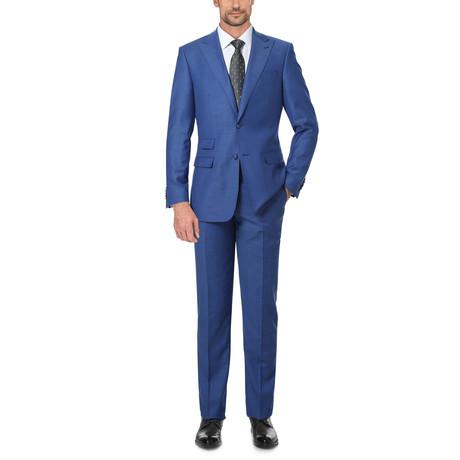 Solid Notch Lapel Slim Fit Suit // Navy (36S)