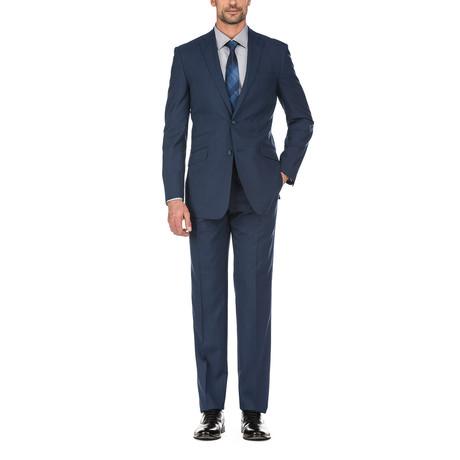 Plaid Slim Fit Suit // Navy (36S)