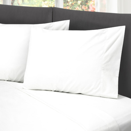 Hotel Style Cotton Rich Sheet Set // White (Full)