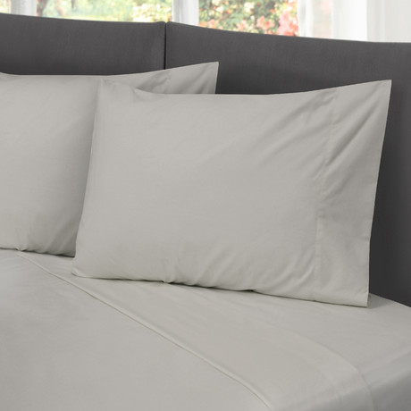 Hotel Style Cotton Rich Sheet Set // Gray (Full)