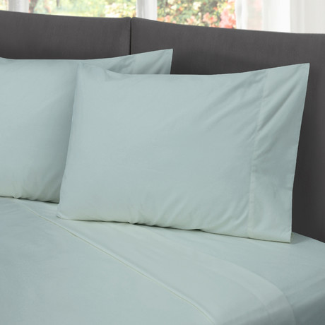 Hotel Style Cotton Rich Sheet Set // Light Blue (Full)