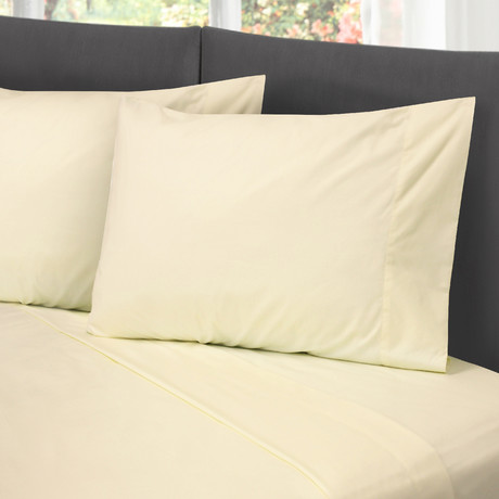 Hotel Style Cotton Rich Sheet Set // Ivory (Full)